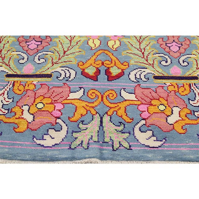 1990s Vintage Handwoven Area Rug- 6′8″ × 9′7″ For Sale - Image 4 of 11