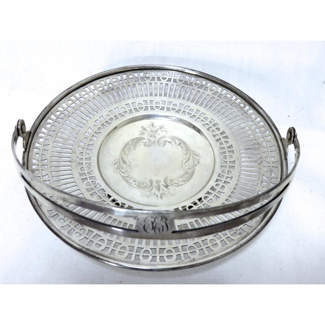 Antique Sterling Silver Mint - Candy Serving Basket For Sale - Image 9 of 12