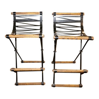 Cleo Baldon for Terra Stools- A Pair For Sale