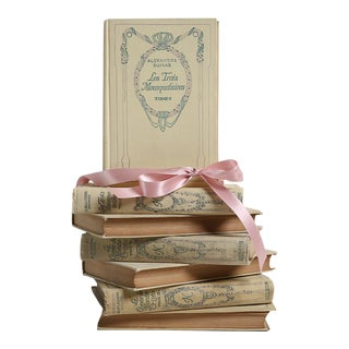 Vintage Book Gift Set: Pocket-Sized French Selections, S/8