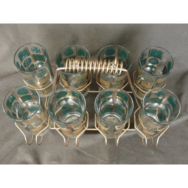 Mid-Century Tumblers With Rack - Set of 9 - Image 10 of 10