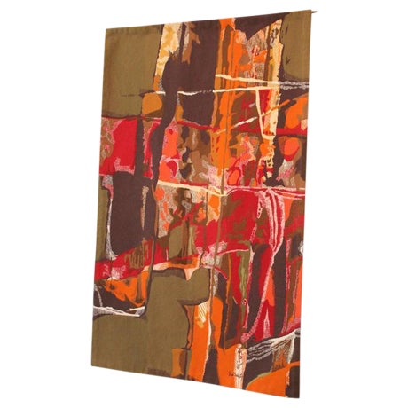 "Mathieu Matégot Tapestry Titled ""19 Composition"" For Sale"