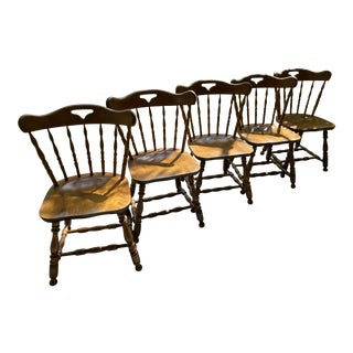 1950s S Bent and Bros Windsor Chairs - Set of 5 For Sale
