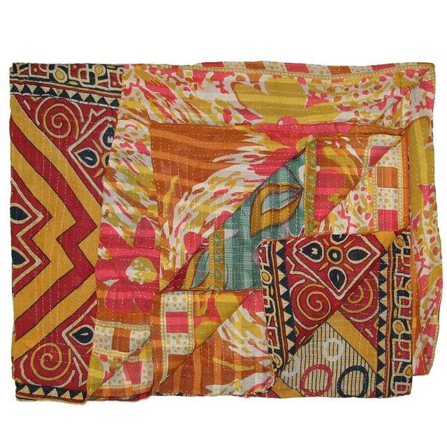 Vintage Kantha Quilt - Image 1 of 3