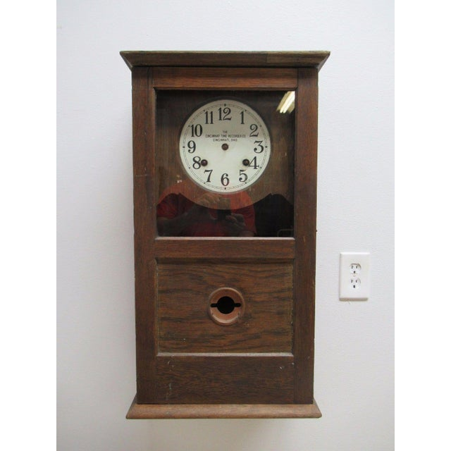 Nice shape, the case has some repairs and the clock is missing a hand.
