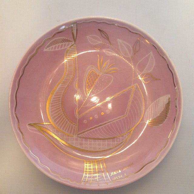 Sascha Brastoff Hollywood Regency Pastel Platter - Image 2 of 5