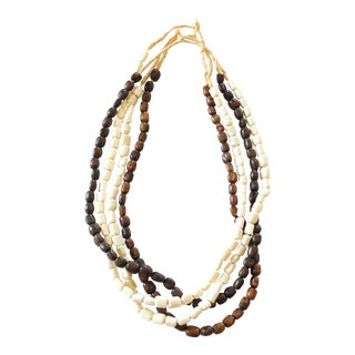 African Bone Trading Beads Set of 4 Necklaces For Sale