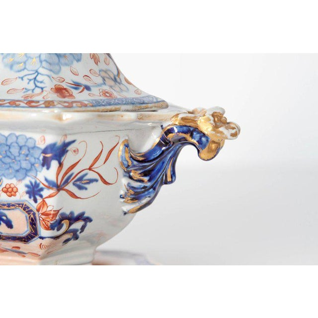 Mid 19th Century Early 19th Century Mason's Patent Ironstone Soup Tureen With Under Plate For Sale - Image 5 of 13