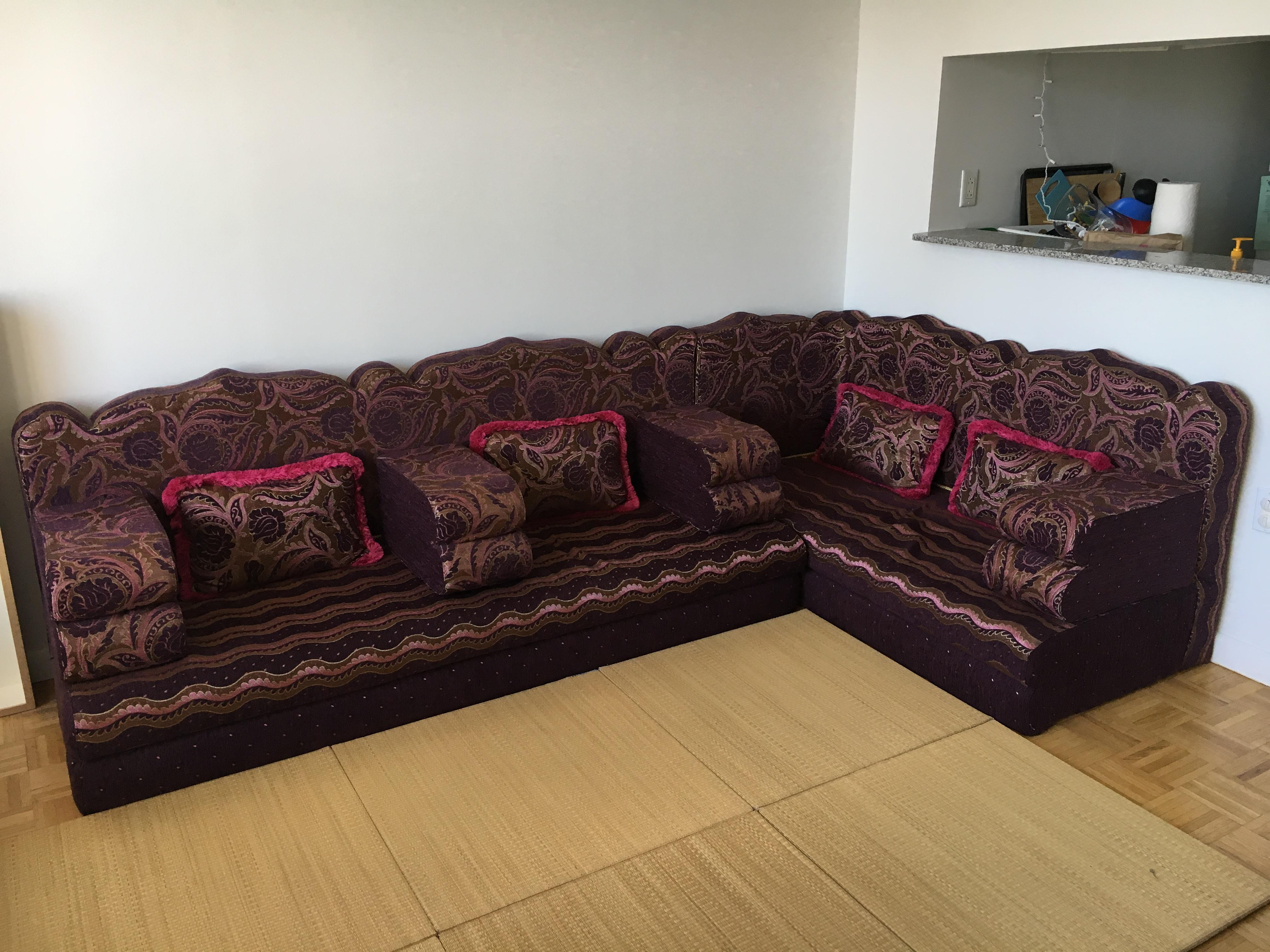 Abu Akram Sonu0027s Middle Eastern Dark Purple Sectional Sofa   Image 2 ...