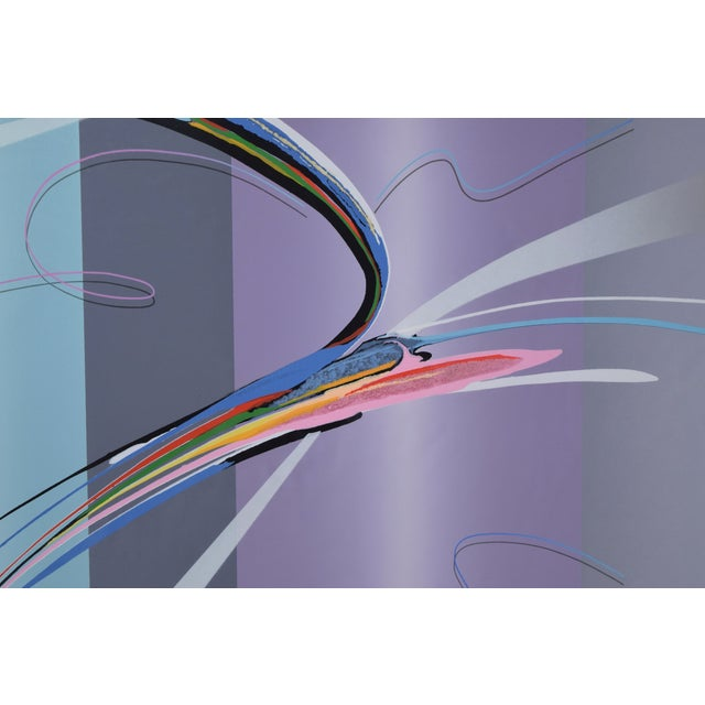 """""""Tiko"""" Modern Abstract Geometric Limited Edition Lithograph Signed Elba Alvarez For Sale - Image 4 of 7"""