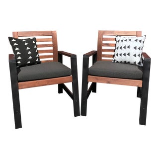 "Modern Outdoor ""Morty Chairs"" - a Pair For Sale"