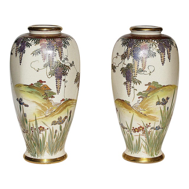 Japanese Vases - A Pair - Image 1 of 7