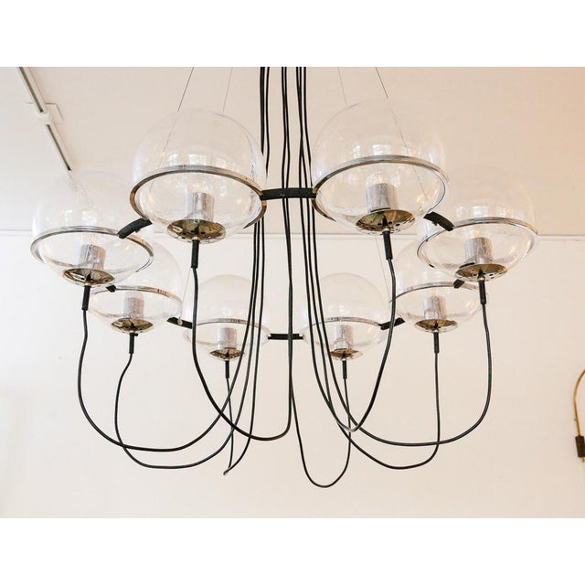 1970s Saturnus Glass Globe Chandelier by Raak of Holland For Sale - Image 5 of 13