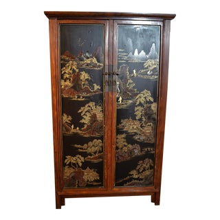 Estate Handpainted Cabinet For Sale