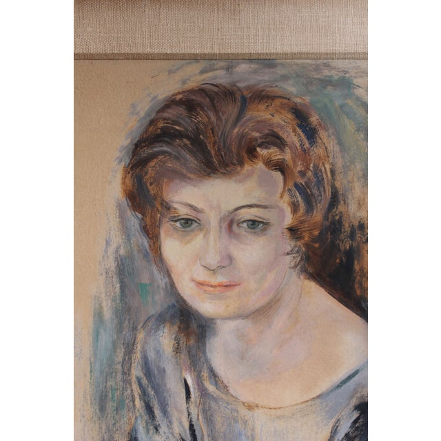 Get up close and personal with the artist! This gouache on paper piece is a self-portrait of the artist herself, Frances...