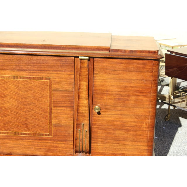 Master Piece French Art Deco Sideboard / Buffet Rosewood By Jules Leleu Circa 1940s. Very fine craftsmanship and Beautiful...