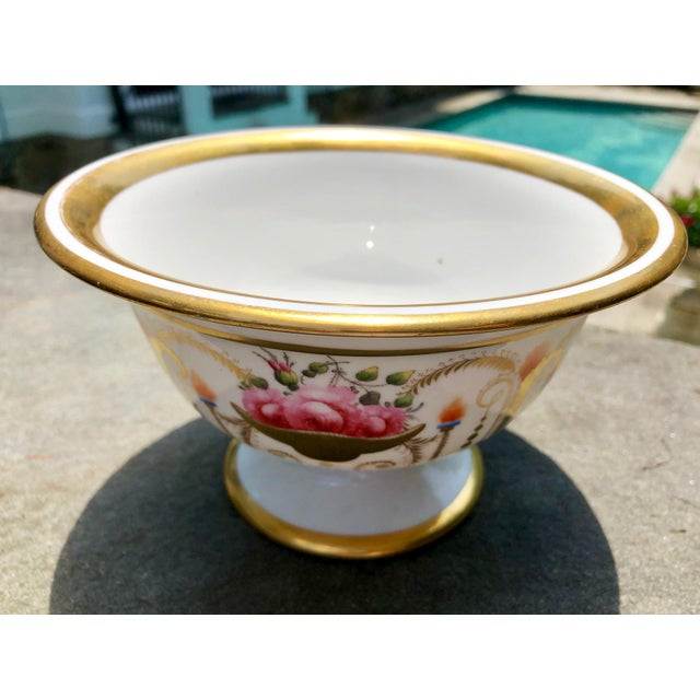 White 19th English Traditional Davenport Gilt Decorated Billingsley Roses Bowl For Sale - Image 8 of 12