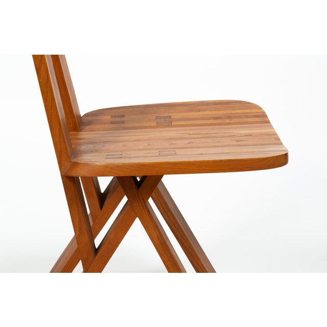 Four Chairs by Pierre Chapo S45 in Solid Elm For Sale - Image 9 of 12