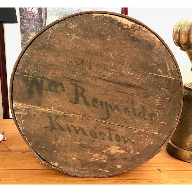 Back in the days when everything was made by hand, we offer this antique wood lidded box. Display this Americana, folk...