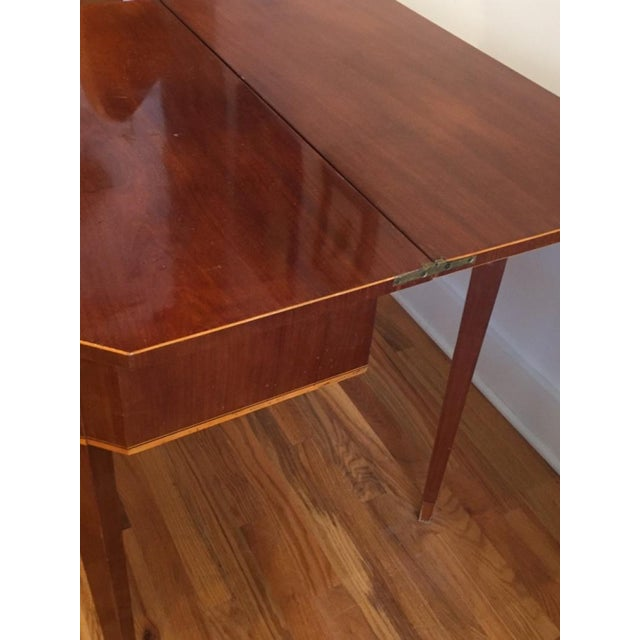 19th Century Biedermeier Mahogany Game Table For Sale - Image 6 of 9