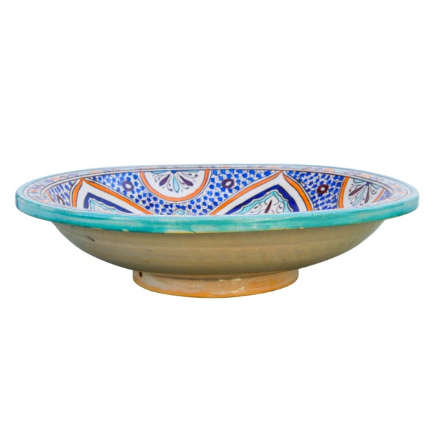Andalusian Motif Ceramic Bowl For Sale In New York - Image 6 of 9