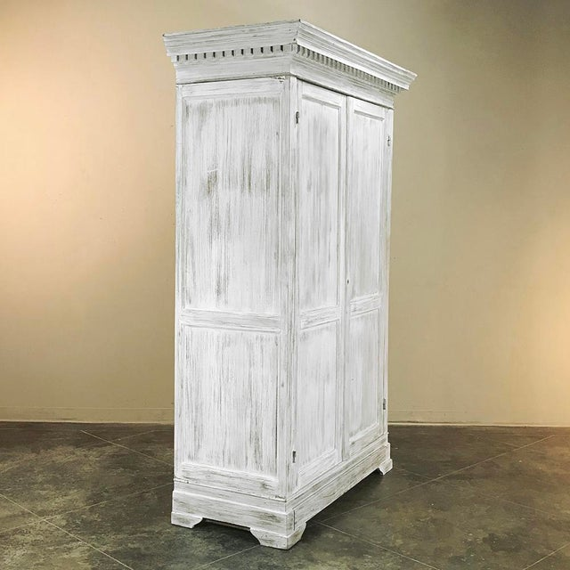 Late 19th Century 19th Century Swedish Whitewashed Pine Armoire For Sale - Image 5 of 12