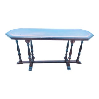 Mahogany Antique Entrance Table With Gated Legs For Sale