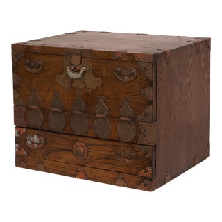 Korean Wedding Chest Circa 1900 For Sale