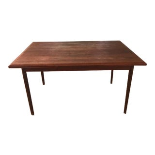 1960s Danish Modern Rosewood Extension Dining Table For Sale