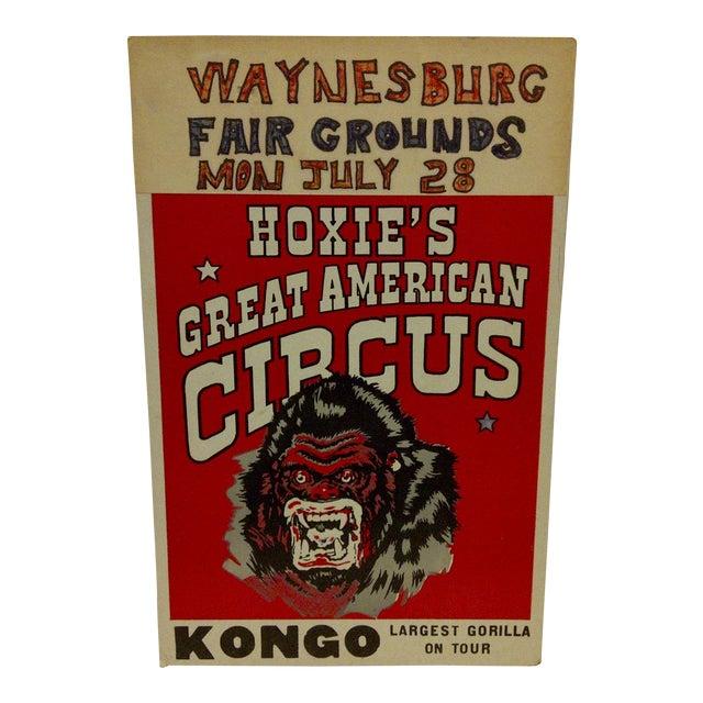 "1960 Vintage Circus Poster ""Kongo - Largest Gorilla on Tour"" For Sale"