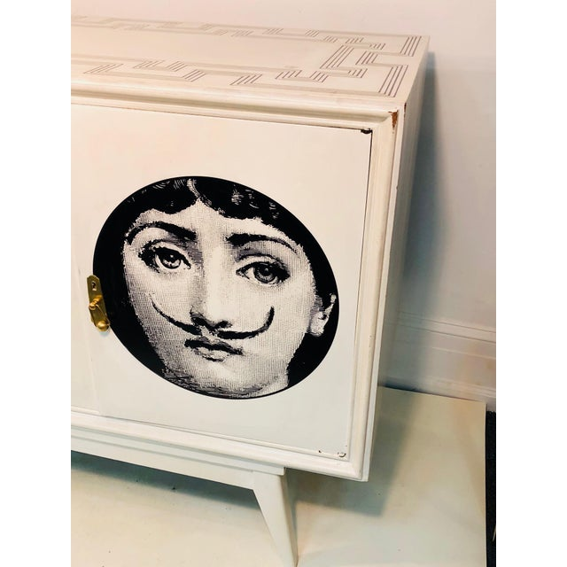 """Monumental Italian cabinet in the manner of Piero Fornasetti, late 20th century. In good condition. Measures 79"""" long by..."""