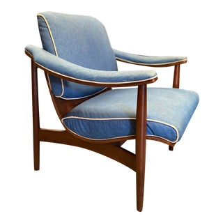 Thonet Bentwood Afromosia Rosewood Upholstered Armchair For Sale