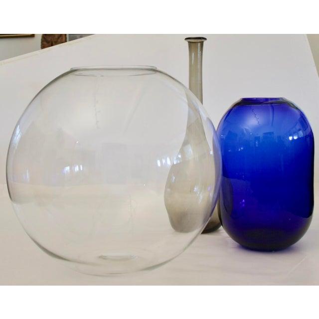 Blue Don Shepherd Blenko 8016 Sculptural Modernist Vase For Sale - Image 8 of 9