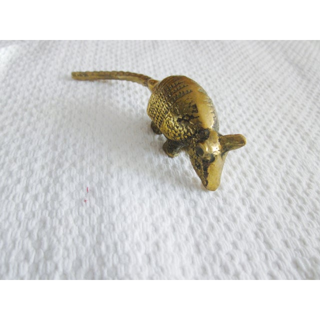 Solid Brass Anteater Paperweight Figurine - Image 3 of 8