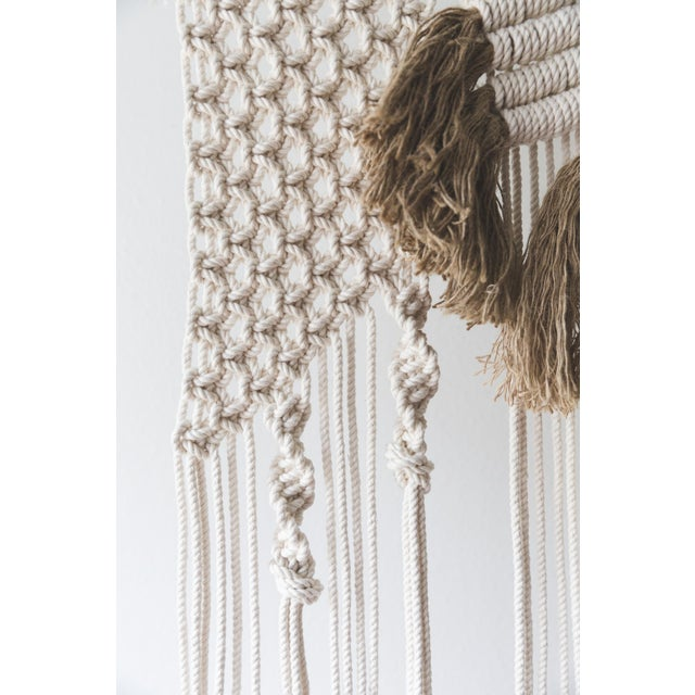 Natural Macrame Wall Hanging - Image 3 of 5