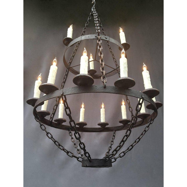 18th Century French Originally Pricket Iron Chandelier For Sale - Image 4 of 6