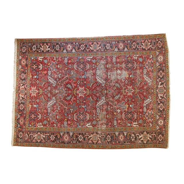 """Vintage Heriz Carpet- 7'6"""" X 10' For Sale - Image 12 of 12"""