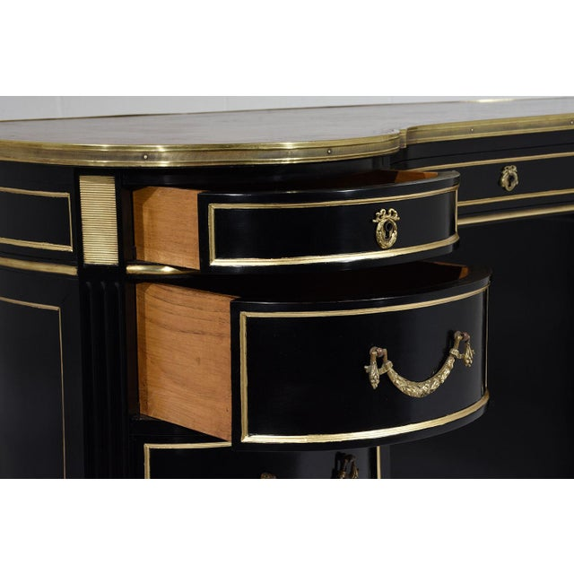 Antique French Regency-style Kidney Desk - Image 6 of 10