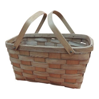 Fruit Flat-Woven Basket With Handles For Sale