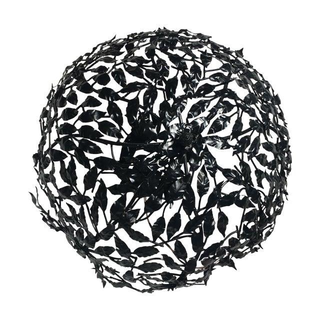 Black Leaf Design Ceiling Light Flush Mount - Image 1 of 6