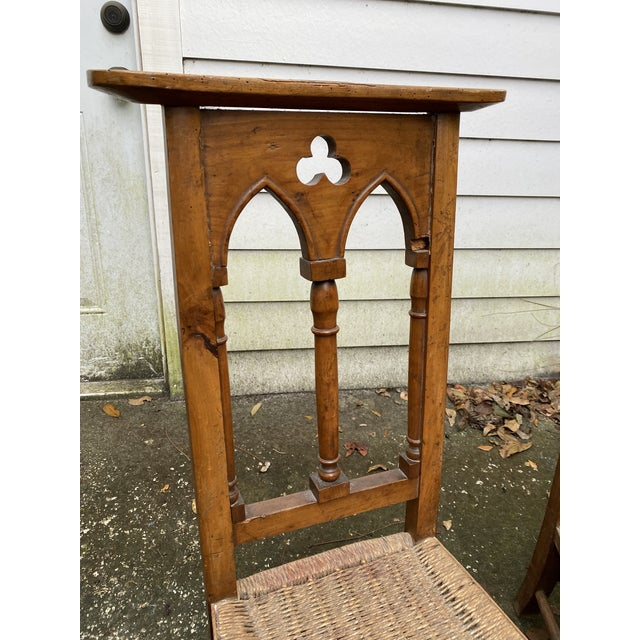 Gothic Antique Prayer Chairs - a Pair For Sale - Image 3 of 13