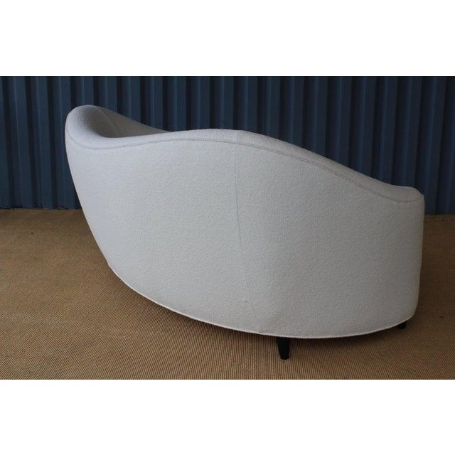 Modern Curved Boucle Sofa, Italy, 1960s For Sale - Image 10 of 13