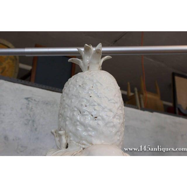 Large Spanish White Ceramic Centerpiece - Image 4 of 8