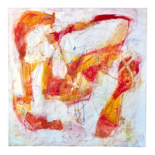 """Contemporary """"Love Surrounds"""" Large Original Square Abstract Painting For Sale"""