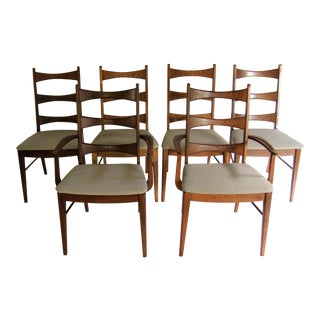 1960s Mid Century Modern Stanley Furniture Company Dining Chairs - Set of 6