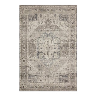 """Loloi Rugs Hathaway Grey/Brown/Ivory 3'-6"""" x 5'-6"""" Area Rug For Sale"""