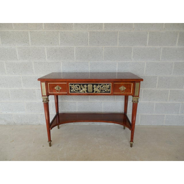 JOHN WIDDICOMB Neo-Classical Bronze Mounted Console Table For Sale - Image 13 of 13