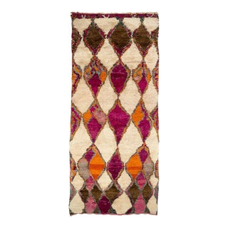Vintage Moroccan Berber Ait Bou Ichaouen Rug For Sale