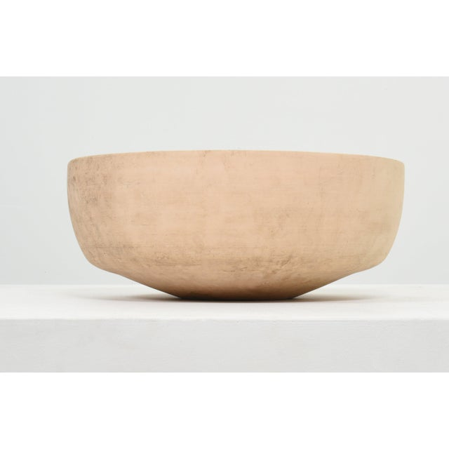 John Follis bisque bowl planter Rare large form in bisque finish USA, circa 1960s 21 dia x 8.75 h in Marked [Architectural...