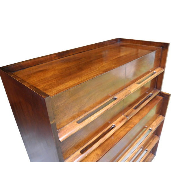 Mid 20th Century Mid-Century Modern Highboy or Tall Dresser by Edmond J. Spence For Sale - Image 5 of 10
